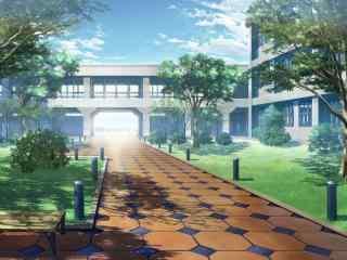 开学季之手绘唯美校园风景壁纸
