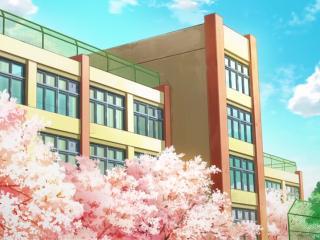 开学季之手绘日式校园风景壁纸