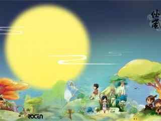 中秋节之可爱动漫海报壁纸