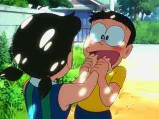 哆啦A梦:大雄的金银岛大雄静香亲密剧照