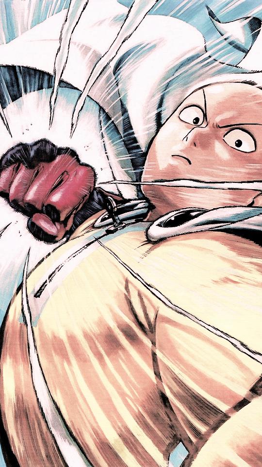 一拳超人琦玉老师挥拳手机壁纸