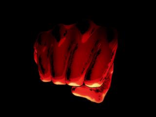 一拳超人埼玉巨大拳头高清桌面壁纸