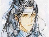 魔道祖師藍忘(wang)機水彩插畫高清壁紙