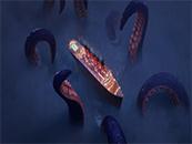精灵旅社3巨型章鱼围堵豪华游轮高清桌面壁纸