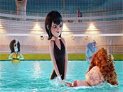 精灵旅社3梅维丝和儿子丹尼斯泳池玩耍剧照
