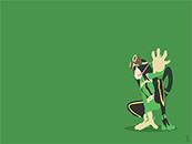 《我的英雄学院》蛙吹梅雨简约手绘风高清壁纸