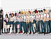 《我的英雄学院》A班全员身高对比个性高清壁纸图片