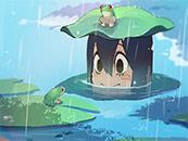 《我的英雄学院》蛙吹梅雨清新可爱高清壁纸