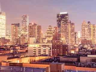 金色的都市纽约桌面壁纸