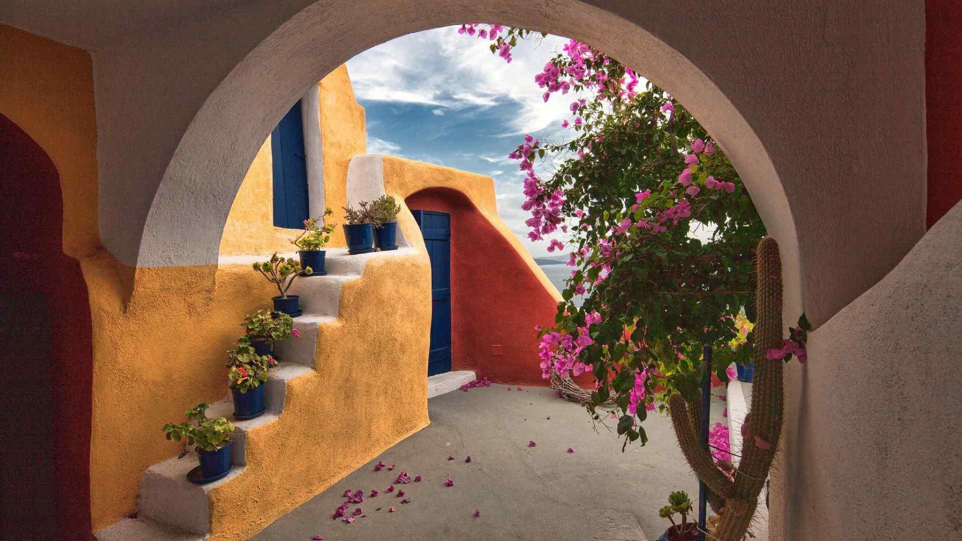 希腊风格建筑高清壁纸