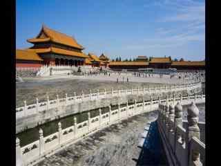 北京故宫太和门广
