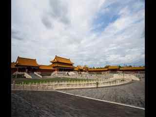 北京故宫太和门远