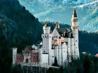 最童话的城堡之阿尔卑斯山脉中的新天鹅城堡