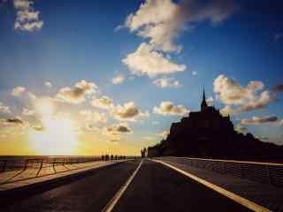 最童话的城堡之圣米歇尔山城堡剪影