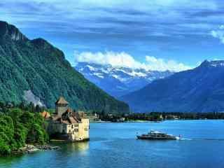 最童话的城堡之瑞士西庸城堡远景