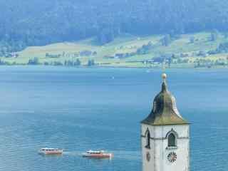 最童话的城堡之萨尔茨城堡湖光山色