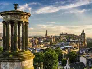 苏格兰爱丁堡城堡建筑图片桌面壁纸