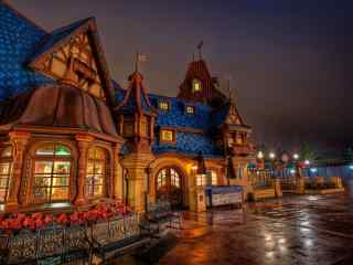 迪士尼乐园唯美城堡高清图片桌面壁纸