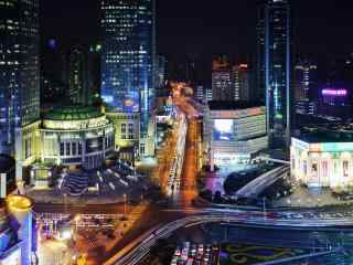 上海徐家汇夜景桌面壁纸