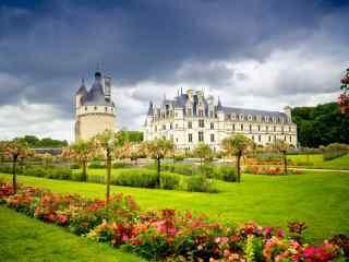 法国卢瓦尔河谷城堡桌面壁纸