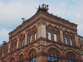莫斯科红场欧式建筑红墙桌面壁纸