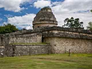 墨西哥玛雅金字塔桌面壁纸