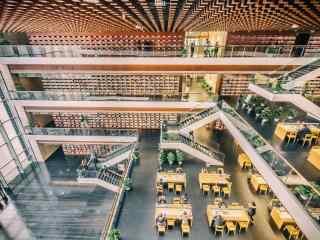 图书馆摄影高清桌面壁纸