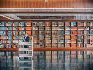 图书馆室内风景壁纸