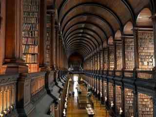 欧洲图书馆唯美桌面壁纸