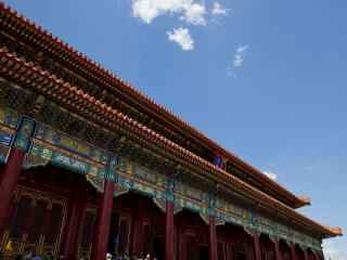 秀丽的北京故宫房