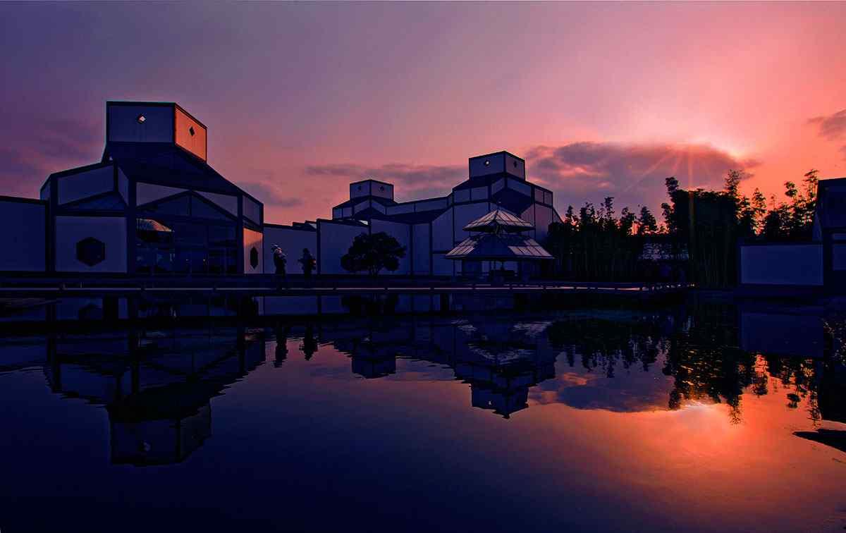 苏州博物馆唯美夜景壁纸