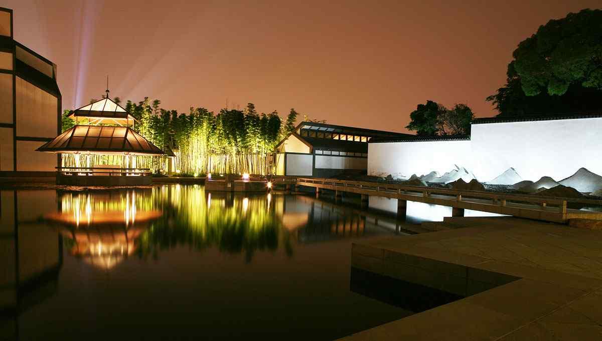 苏州博物馆夜景图片壁纸