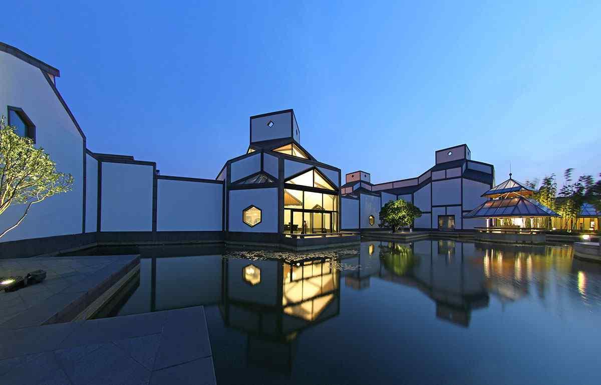 苏州博物馆夜景桌面壁纸