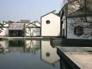 苏州博物馆风景桌