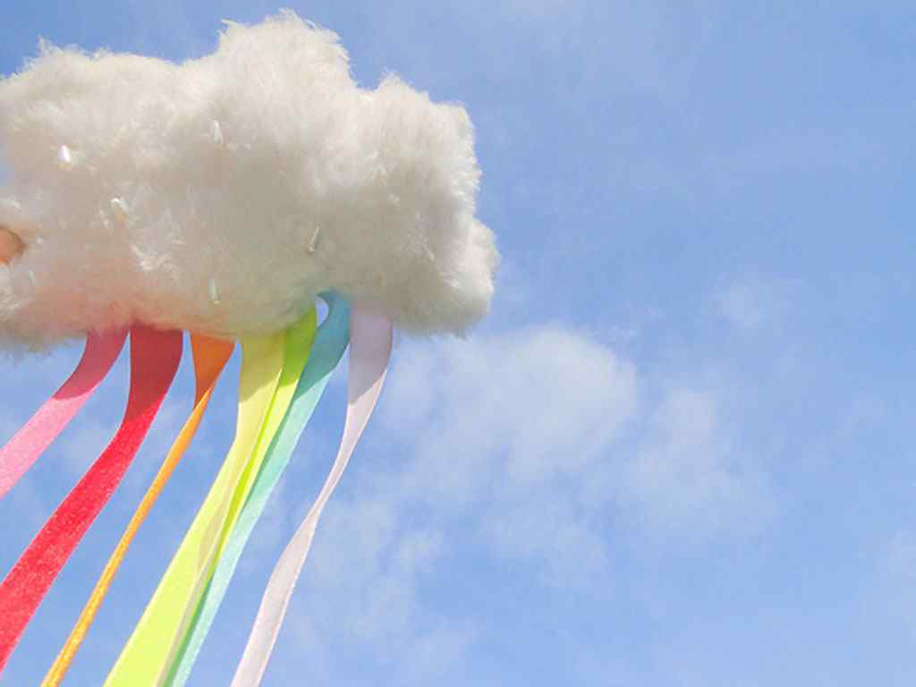 创意彩虹云桌面壁纸