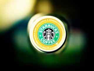 星巴克创意设计撞色logo标志图片桌面壁纸