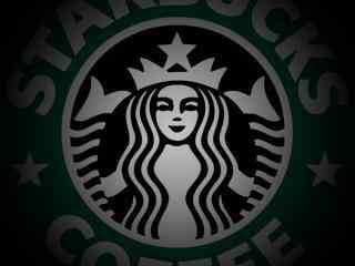 星巴克创意设计神秘黑色logo图片桌面壁纸