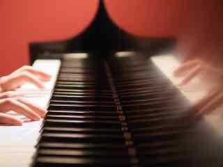弹钢琴的手唯美图片桌面壁纸