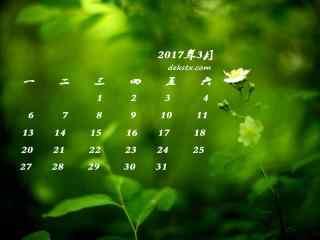 2017年3月日历绿
