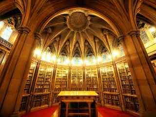 图书馆辉煌的风景