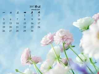2017年6月日历美丽的鲜花壁纸