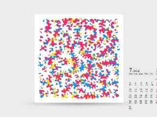 2017年7月日历创意桌面壁纸