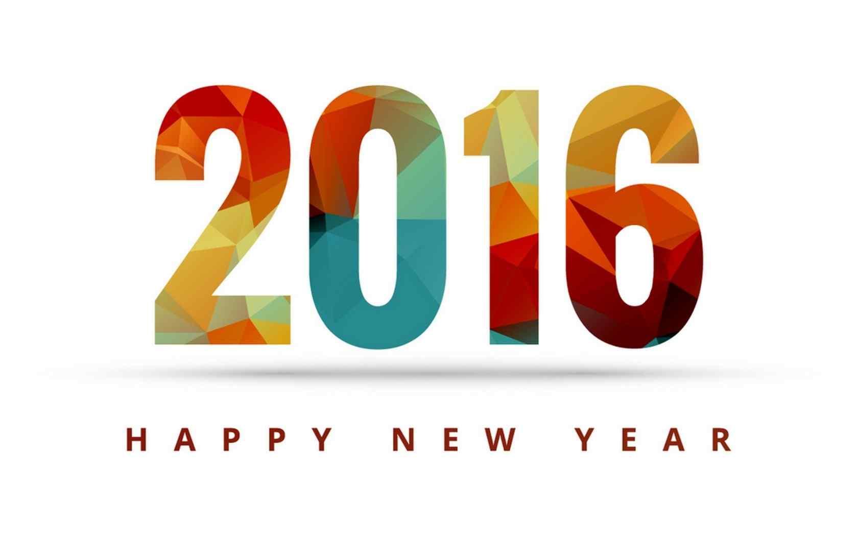 2016新年数字设计创意壁纸
