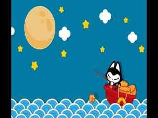 中秋节卡通人物小