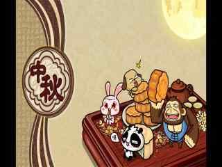 中秋节各种动物齐