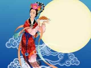 中秋节嫦娥奔月桌面壁纸图片