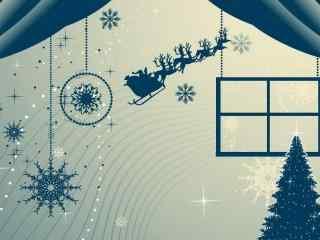 创意圣诞节节日图片桌面壁纸