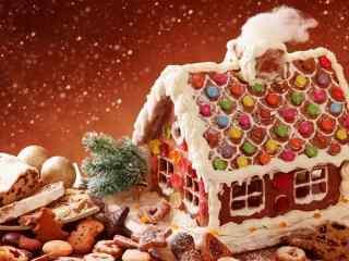 圣诞节饼干装饰品桌面壁纸