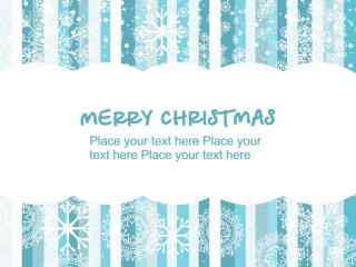 唯美的蓝色圣诞节节日壁纸