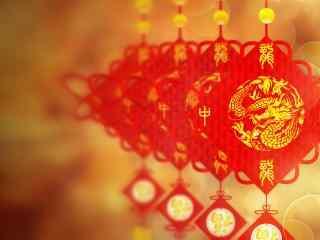 好看唯美的新年中国结图片